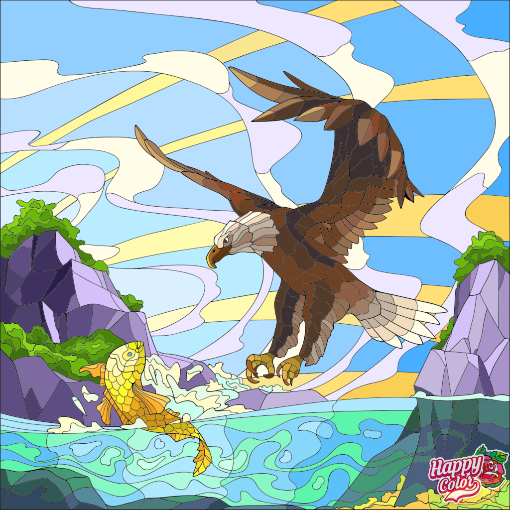10 15 2019 Eagle Catching A Fish Happy Colors Colorful Art Colorful Pictures