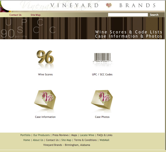 Click here to go to the section of our website that lets you download case photos, case info, UPC Codes and wine scores!