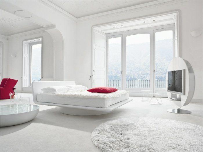 Hochglanz schlafzimmer ~ Weißes schlafzimmer gestaltungskonzepte in weiß welche die