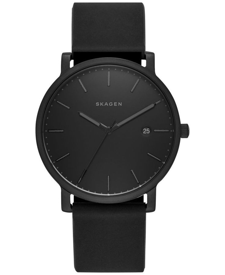 cccb00b61e45 Skagen Men's Black Silicone Strap Watch 40mm SKW6346 | All Black ...
