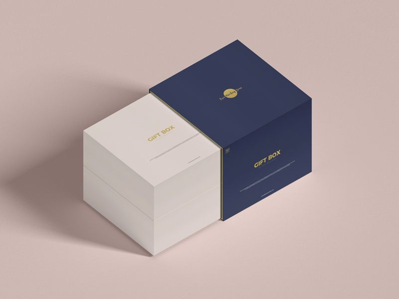 Download Free Psd Slide Gift Box Mockup Box Mockup Packaging Mockup Free Mockup