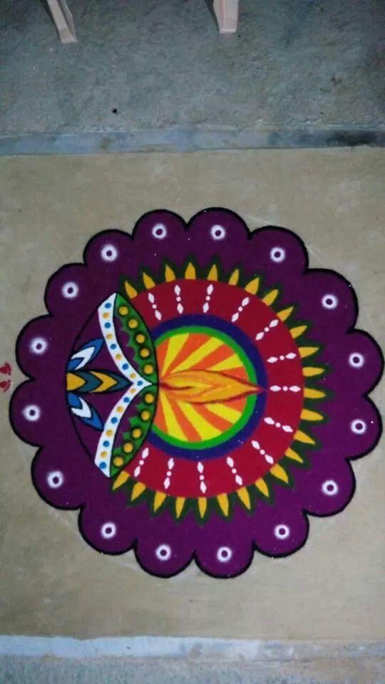 ganpati rangoli design diwali
