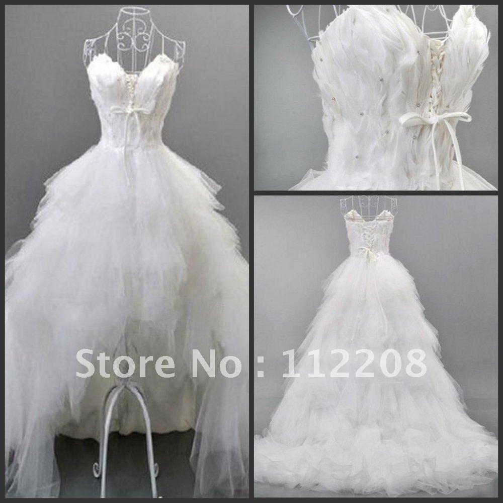 White dress long back short front hair