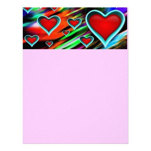 Hearts Custom Letterhead