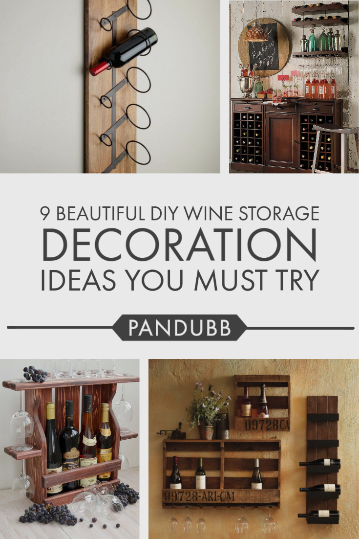 9 Beautiful Diy Wine Storage Decoration