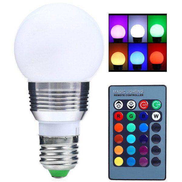 Color Change Lampada Romote Control Rgb Led E27 Bulb With Images