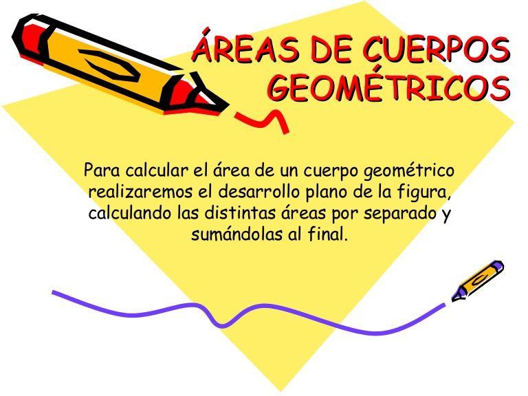 Areas De Cuerpos Geometricos Con Ejemplos Tambien Volumenes Pero
