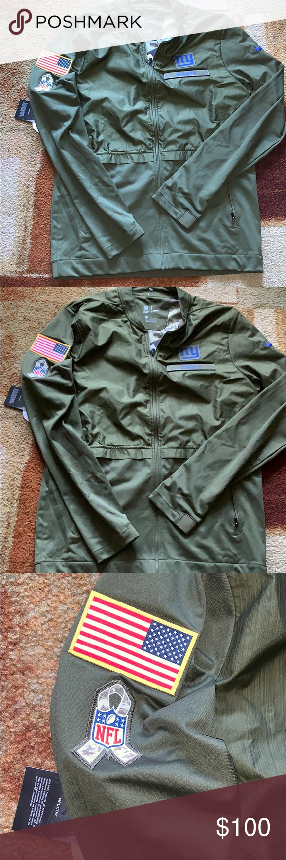 New Nike Salute to Service NY Giants Jacket New Nike Salute to Service NY Giants Jacket Size: Medium  Color: Green Blue Red White Yellow Blue L: 29 inches  P2P: 22 inches  Brand New Nike Jackets & Coats #salutetoservice New Nike Salute to Service NY Giants Jacket New Nike Salute to Service NY Giants Jacket Size: Medium  Color: Green Blue Red White Yellow Blue L: 29 inches  P2P: 22 inches  Brand New Nike Jackets & Coats #salutetoservice New Nike Salute to Service NY Giants Jacket New Nike Salute #salutetoservice