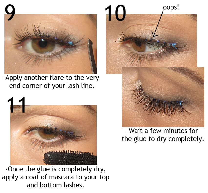 696c4c418e9 How to apply individual fake eyelashes. this make up tutorial blog is so  great!