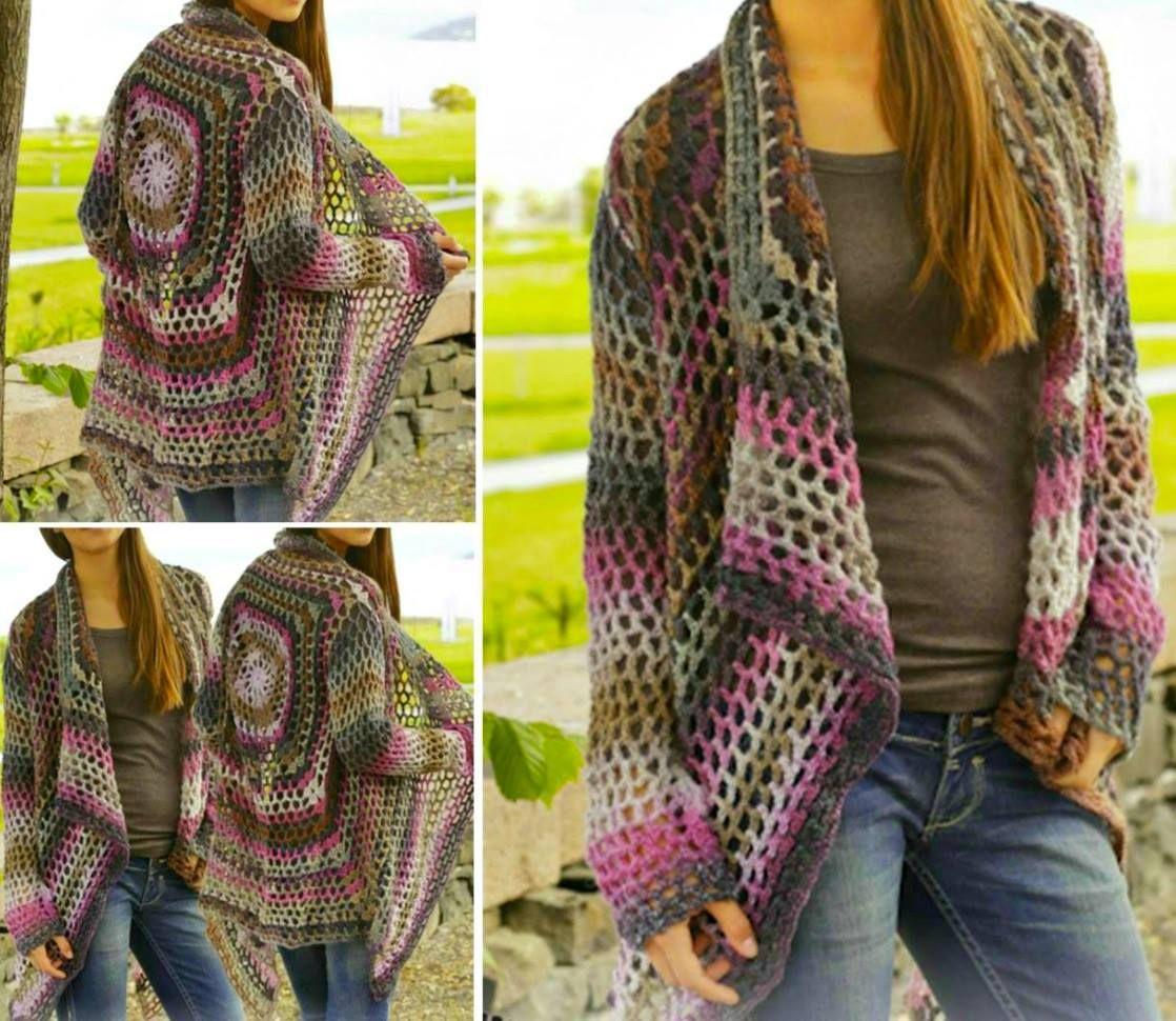 Crochet Jacket Lots Of Gorgeous Free Patterns | Häkelideen ...