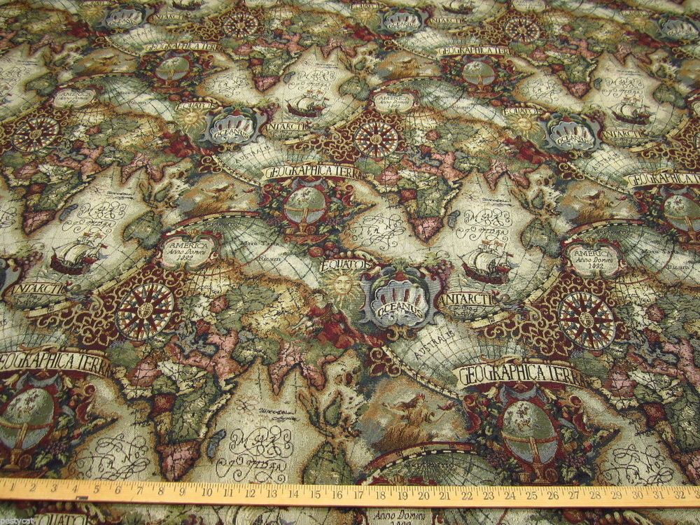 Magellan old world map tapestry upholstery fabric color jewel the best 15 old world map tapestry antique world map tapestry gallery antique world map tapestry gallery mapold worldold world map gumiabroncs Gallery