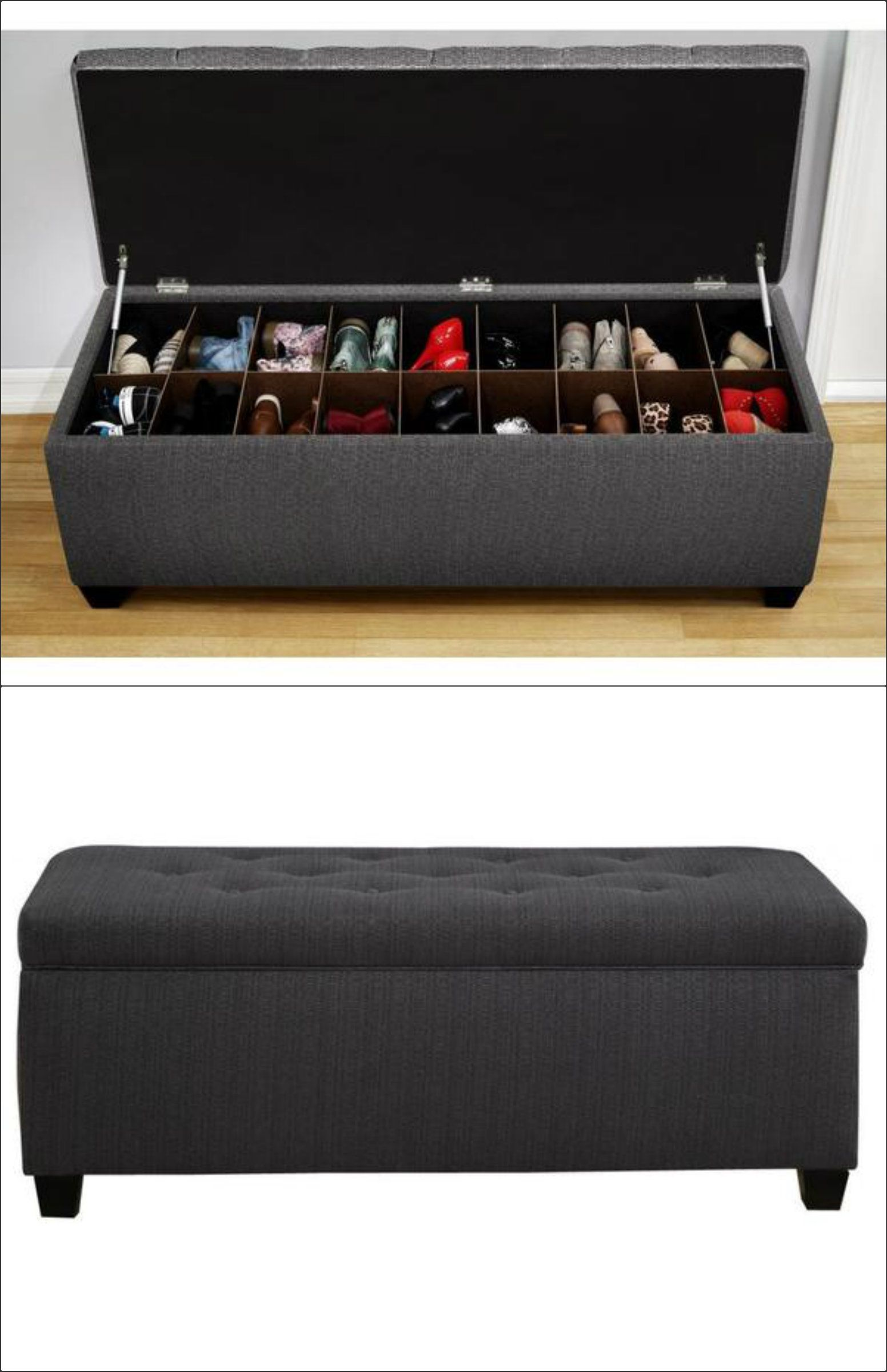 Ideas para guardar y organizar tus zapatos stop desorden shoe storage benches storage Entryway shoe storage bench