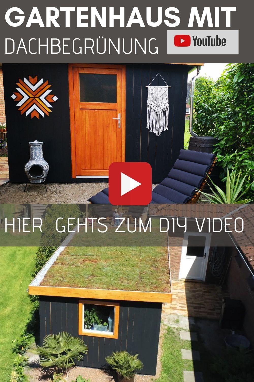 Gartenhaus Mit Dachbegrunung Selber Bauen Holzhutte Holzhaus Bauen Gartenhaus Einrichten D Gartenhaus Selber Bauen Holzhaus Bauen Holzhutte Selber Bauen