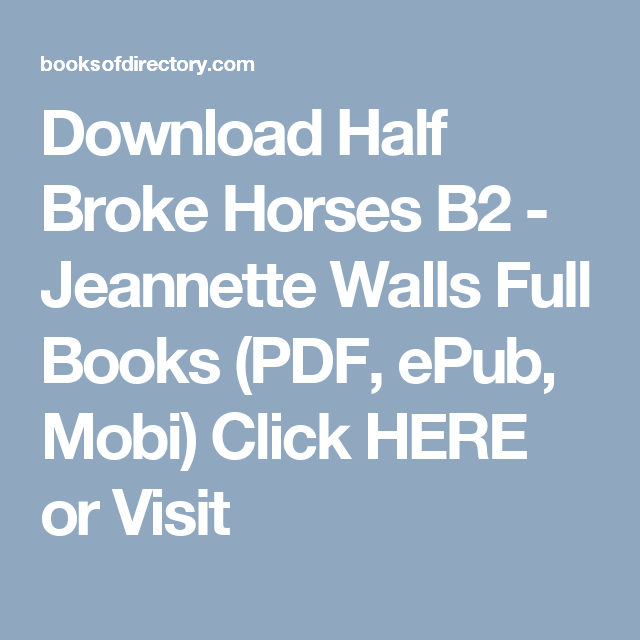 Horses download epub broke half