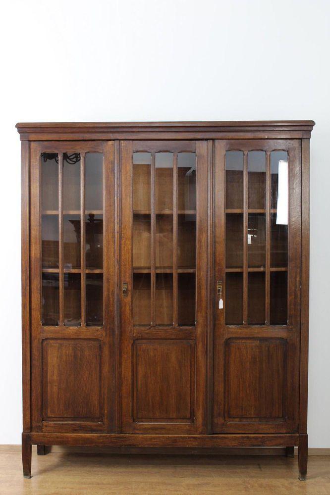 sch090 b cherschrank vitrine herrenzimmer b ro um 1900 gr nderzeit eiche m bel pinterest. Black Bedroom Furniture Sets. Home Design Ideas