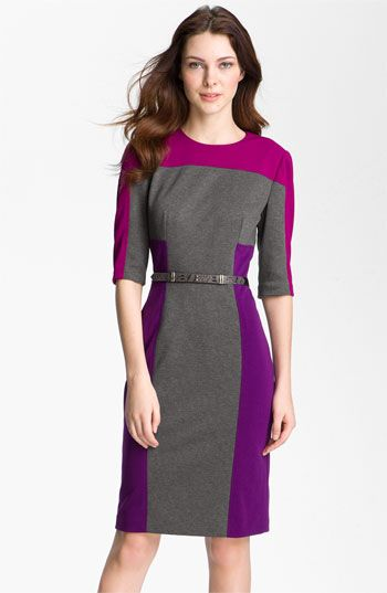 923f2e5c Maggy London Colorblock Ponte Sheath Dress (Petite) available at #Nordstrom