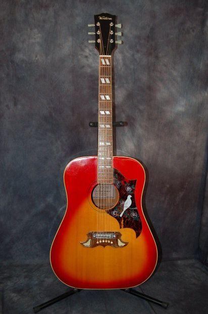 Ventura Model V 23 S Lawsuit Dove Adjustable Bridge Low Action Original Case 1976 Redburst Lawman Guitars Reverb Guitar Acoustic Guitar Easy Guitar Songs