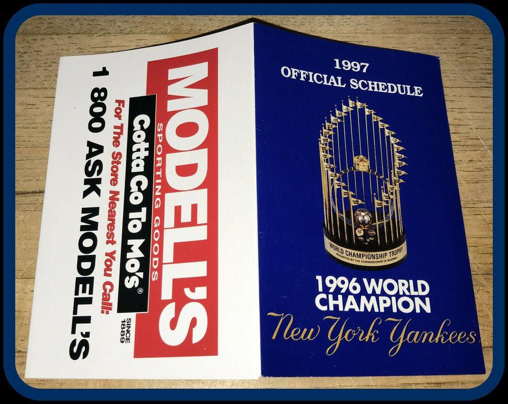 NEW YORK YANKEES 1997 MODELLS SPORTING GOODS WORLD