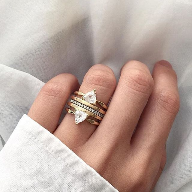 Now Thats A Stack Try Layering On Multiple Rings Of The Same Style Like This