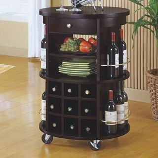 Monarch Round Bar Serving Cart - contemporary - bar carts - by Kohl's