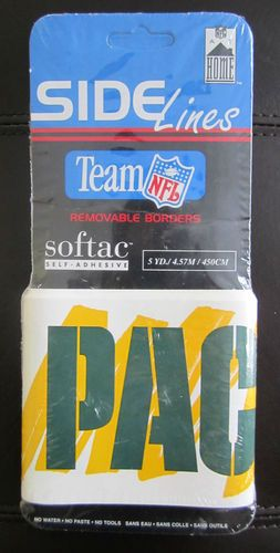 SelfAdhesive GREEN BAY PACKERS Removable Wallpaper Border