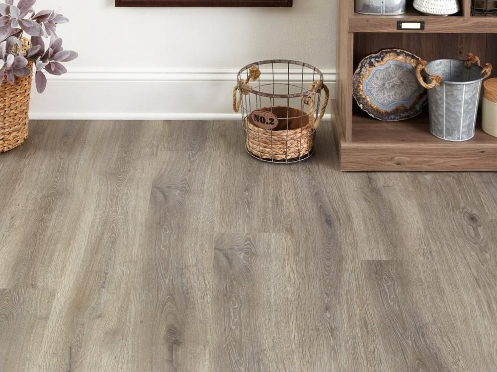 Satin Pewter Plank with Cork Back 7in. x 47.74in