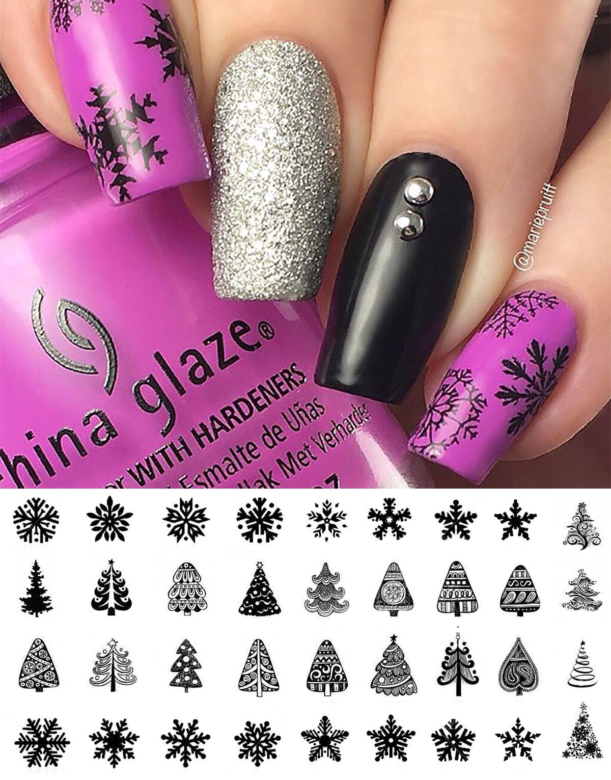 Pin By Moon Sugar Decals On Christmas Nail Art Decals Nail Art Nails Christmas Nails