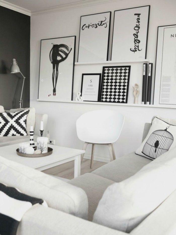 Fotoplank met grote fotolijsten huis / interieur Pinterest