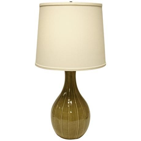 Haeger Potteries Sage Ceramic Tile Table Lamp U4982 Lamps Plus Table Lamp Ceramic Tiles Lamp