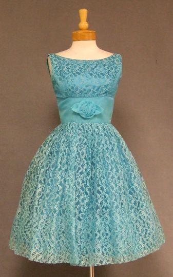 Lace & Chiffon 1960's Cocktail Dress