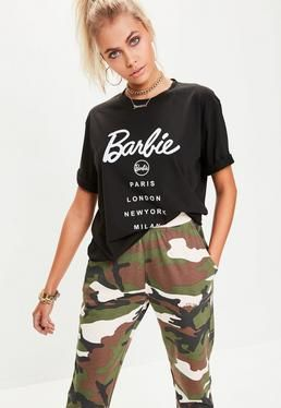 c38c89a9fbc6c Barbie x Missguided Black Short Sleeve  City  T Shirt . Order today   shop  it like it s hot at Missguided.