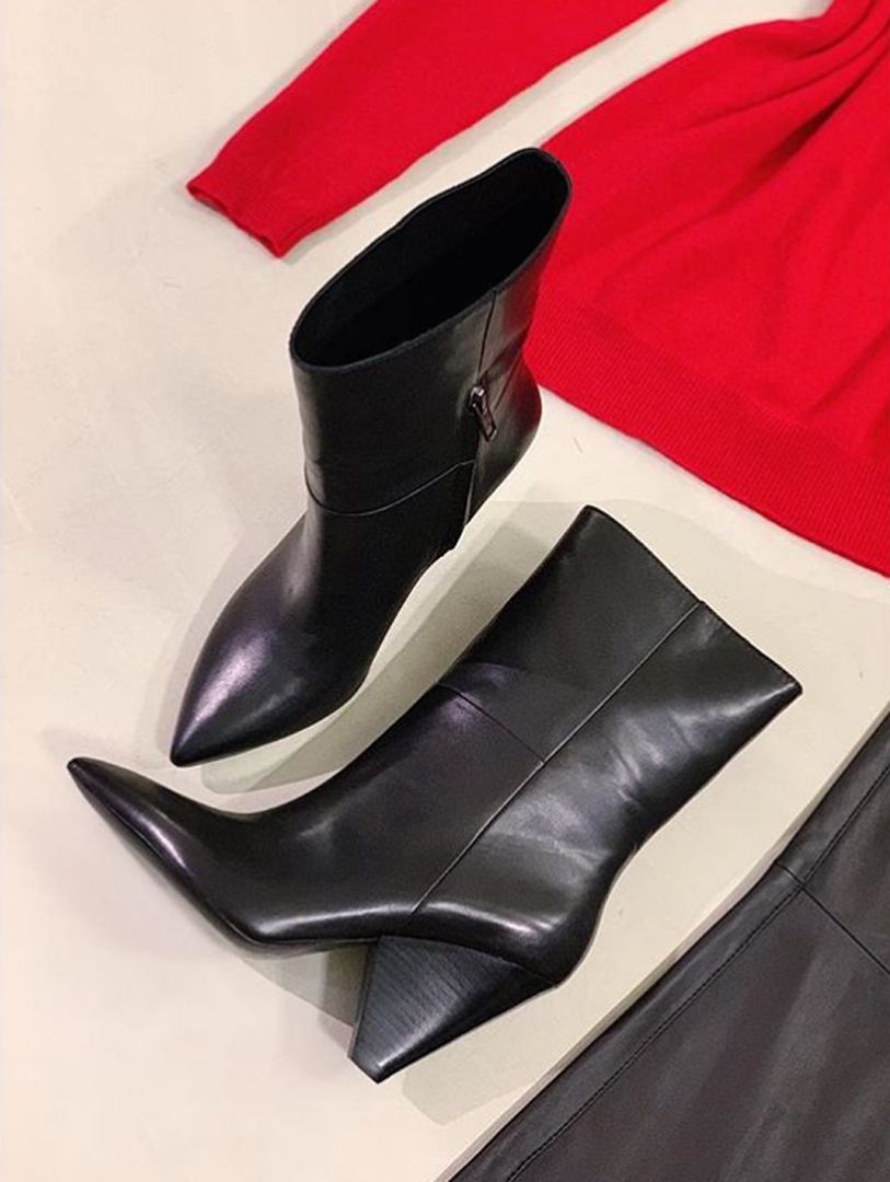 1c91f5c23ca1 Shop DOLL Mid Calf Boots in Black Leather from  ASH Official  AW18  Collection for £265 also available in more colours and suede. This  fall  make a statment ...