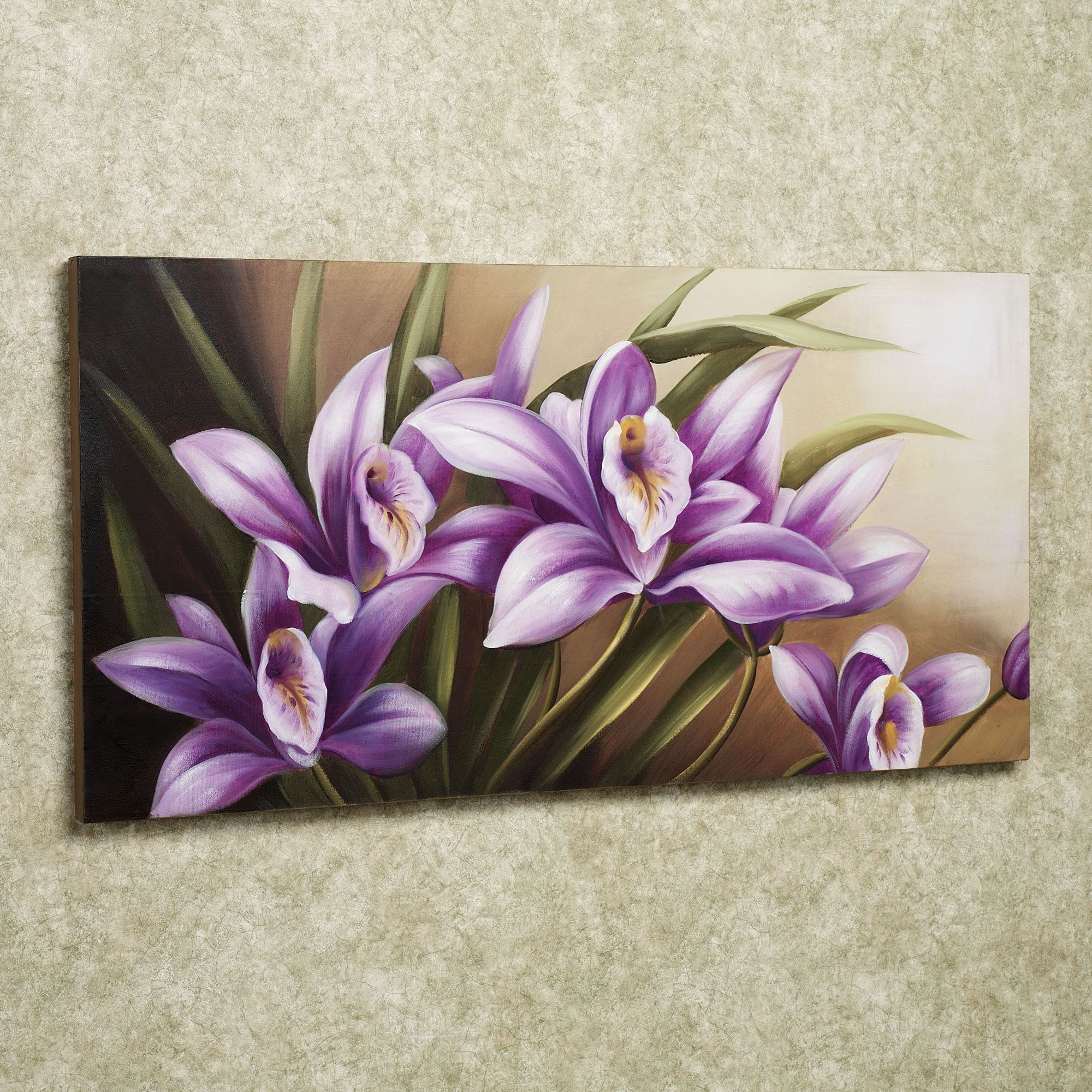 Wild Orchid Handpainted Floral Canvas Wall Art Con Imagenes