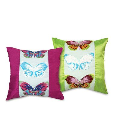 Take a look at this Butterfly Pillow Set by Melrose on #zulily today!