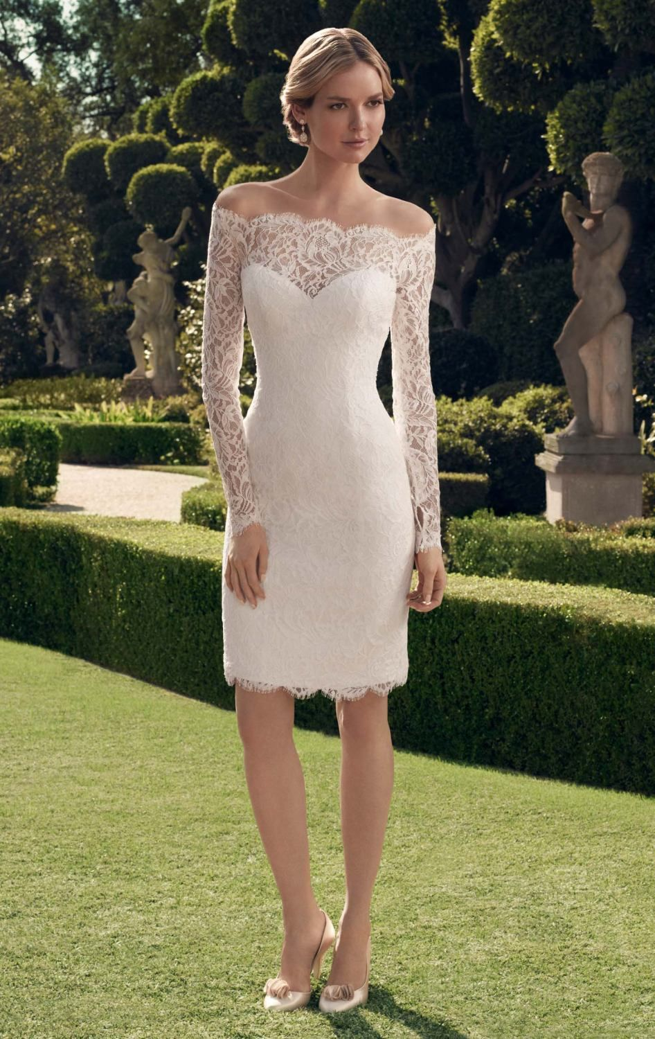 Fabulous And Stunning Sheath Off The Shoulder Wedding Dress