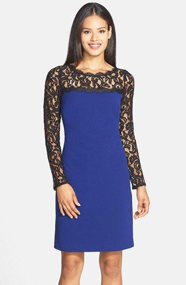 Lace & Crepe Shift Dress | Nordstrom | Nordstrom dresses ...