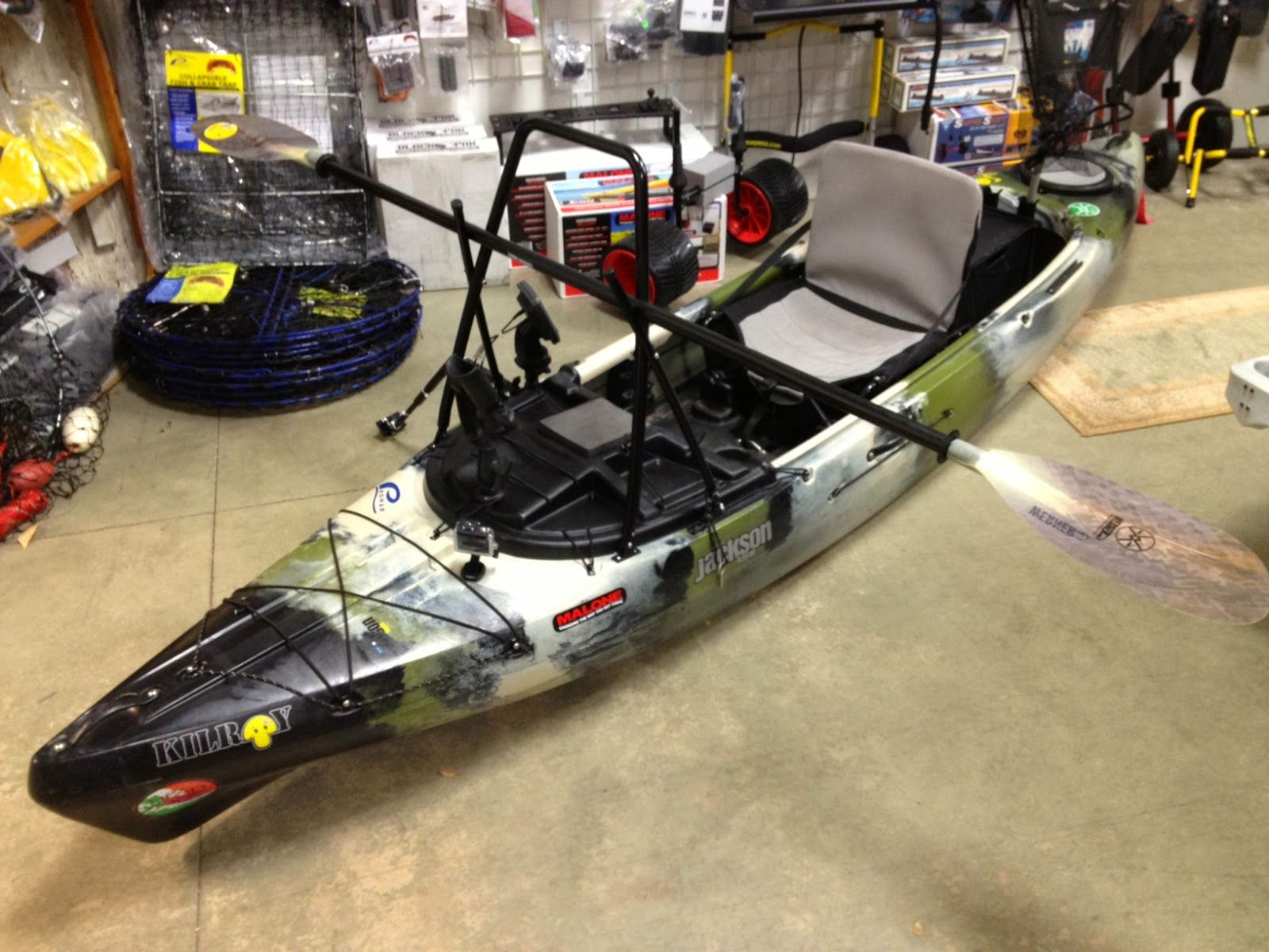 Headwaters Fishing Team Stand Up Bar On The Jackson Kilroy Jackson Kayak Kayaking Kayak Fishing