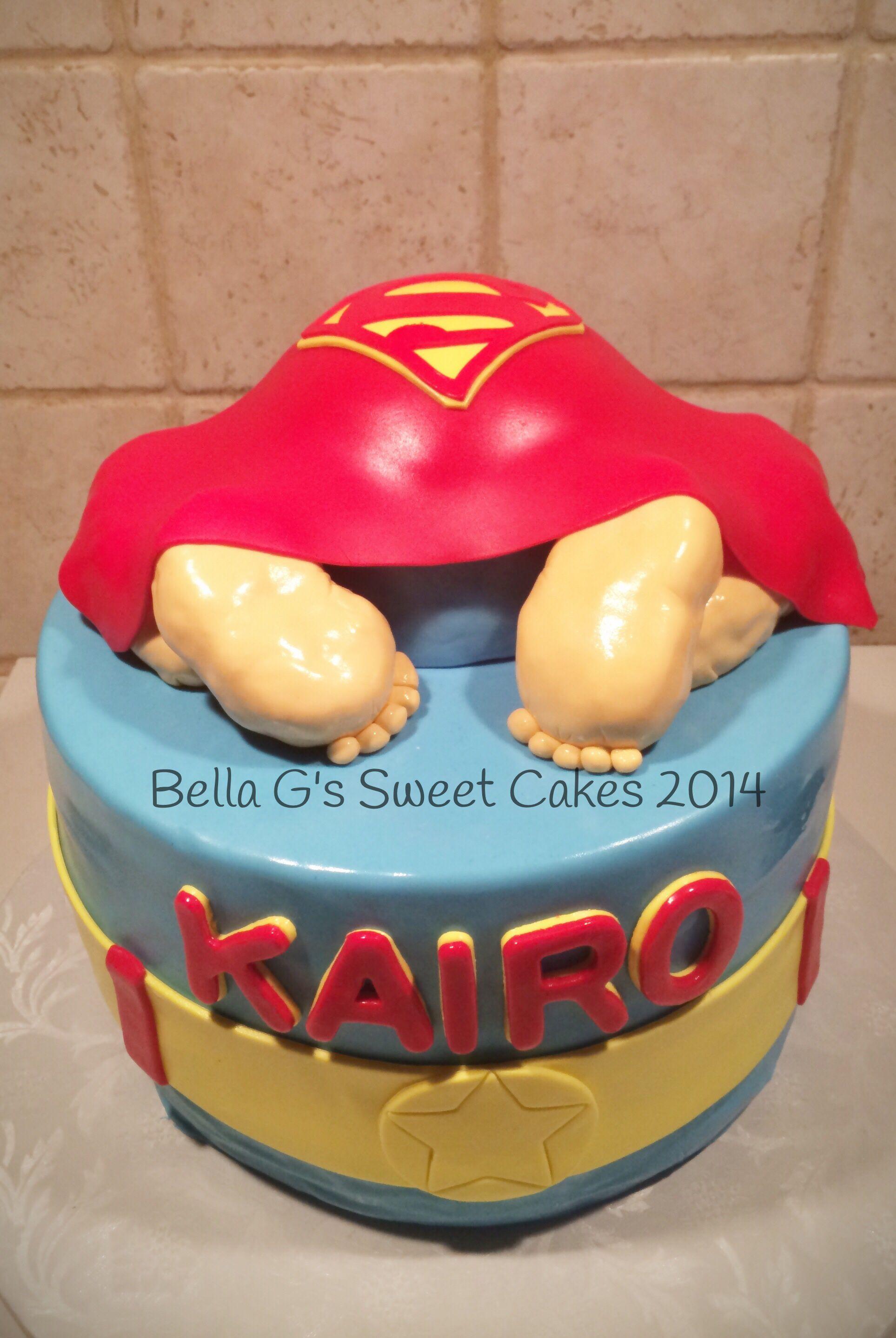 Superman Baby Shower Cake