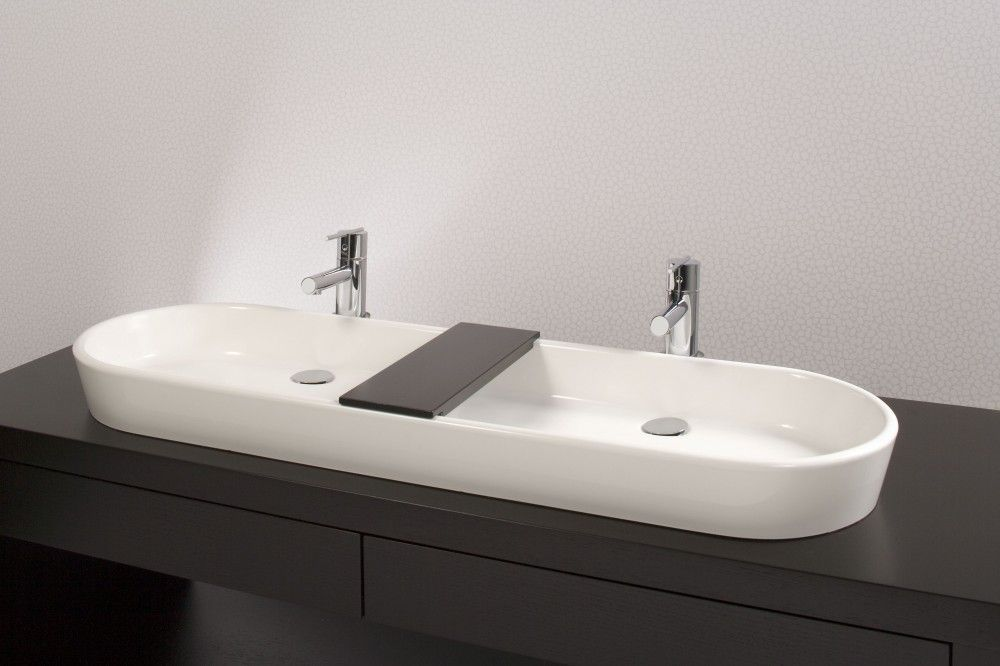 Delightful Decoration Bathroom Sinks Modern Ove 48 Inch Double Above Counter Sink Bs22 Modern
