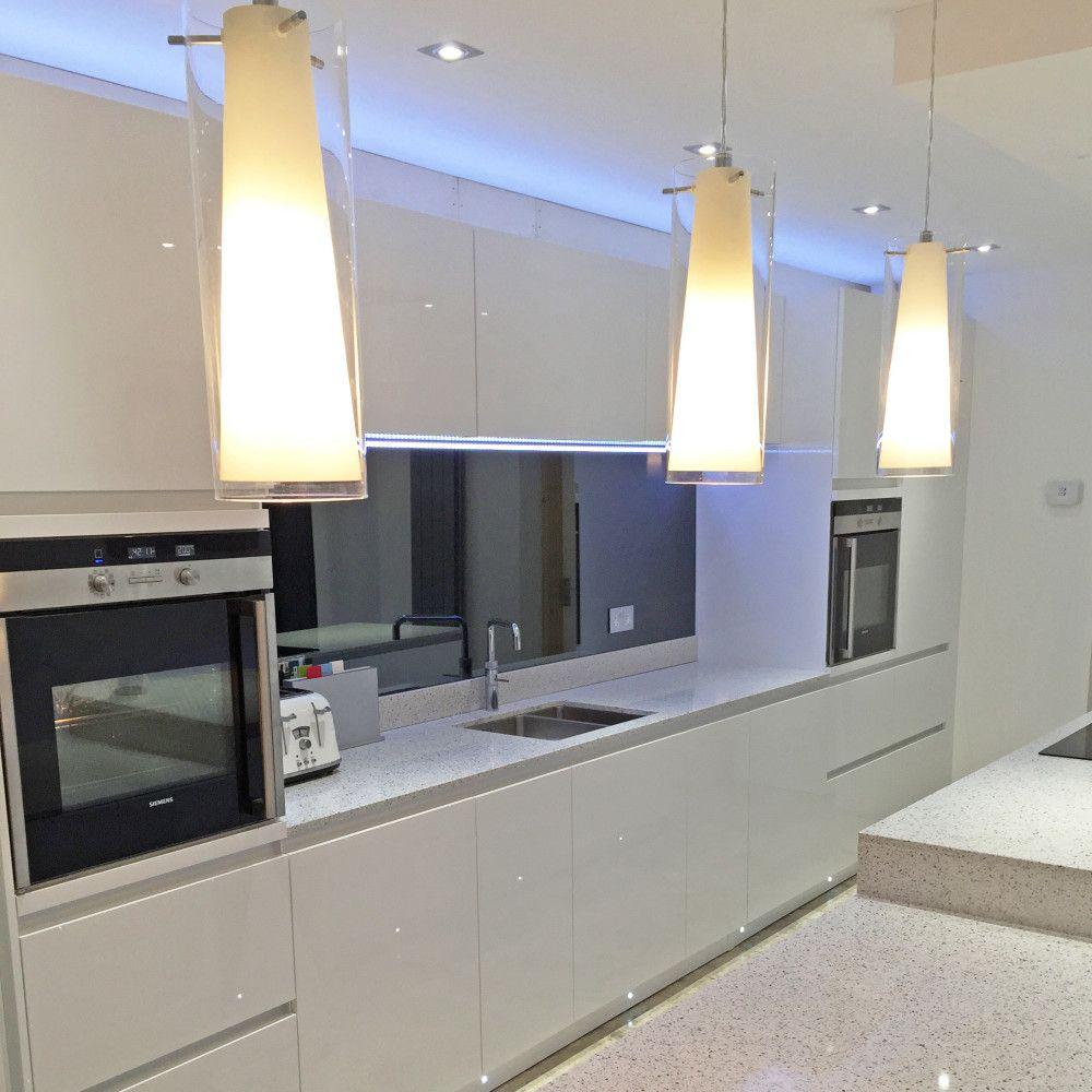 Smoked Mirror Glass Splashback Kitchen Mirror Modern Kitchen