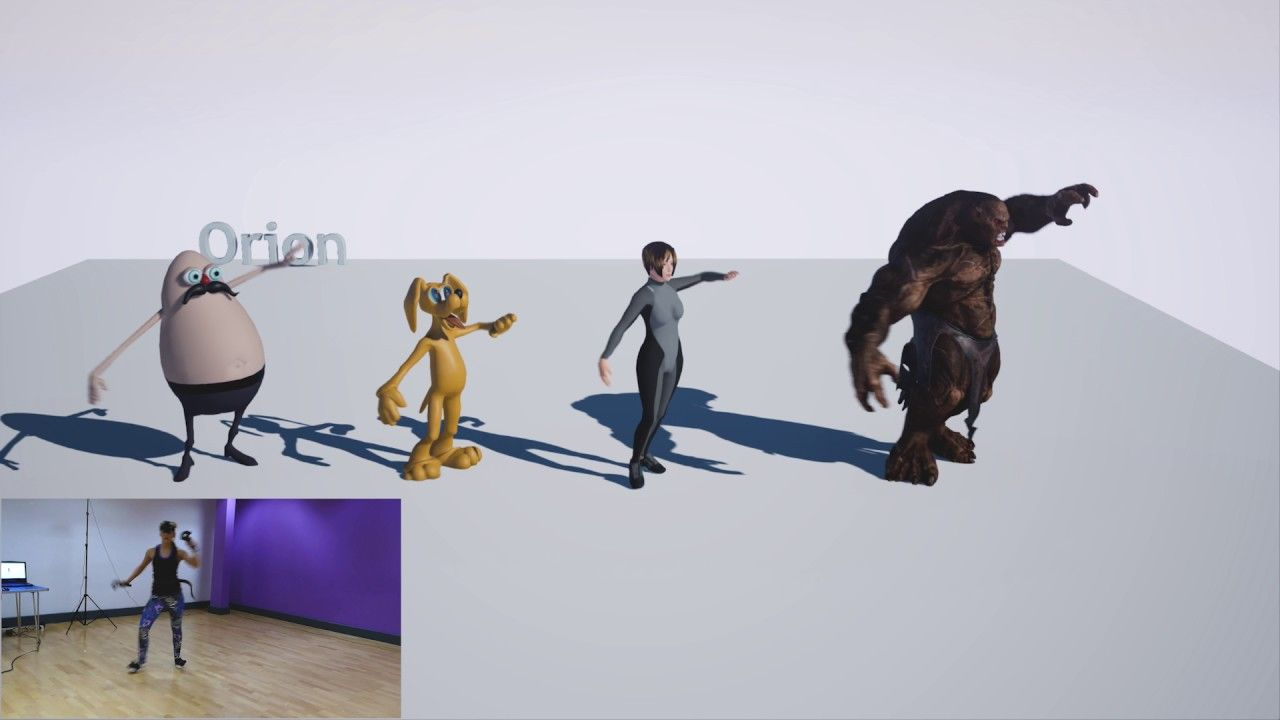 Animation Retargeting orion animation retargeting with liveaction - htc vive