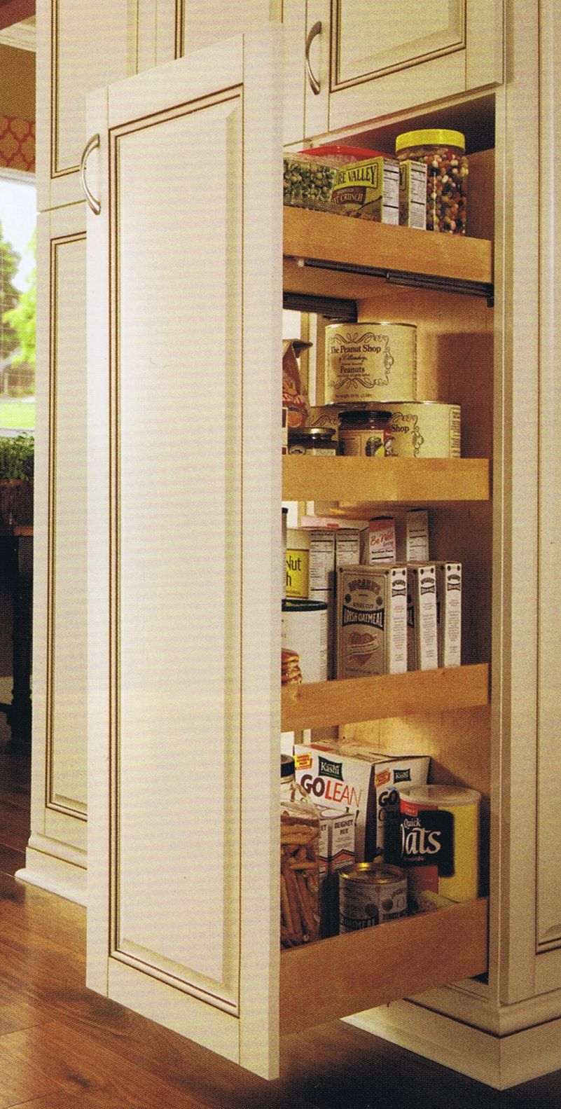 Tall Pull Out: Two sided access cabinet for maximum storage | Pantry ...