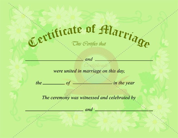 Marriage Certificate Template  Marriage Certificate Templates