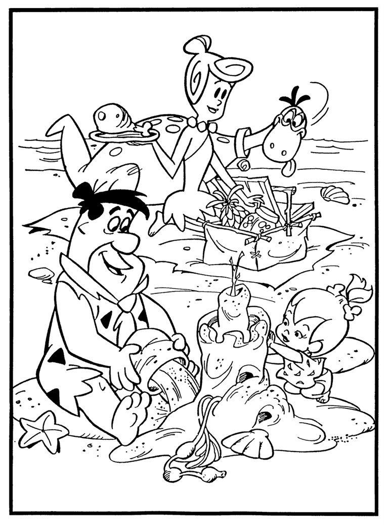 Flintstones Coloring Page | Gyerek szinezők | Pinterest | Colorear ...