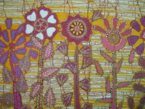 Obra de arte hecha a mano en Batik, para la decoración de interiores