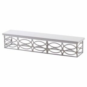 This wall shelf sports a metal structure for maximum durability and the marble white top to ensure a perfect fit for your contemporary styled interior. It will make for a perfect place to display vintage tea cups and spices in your kitchen.