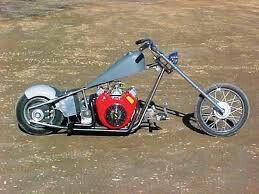 Homemade mini bike chopper