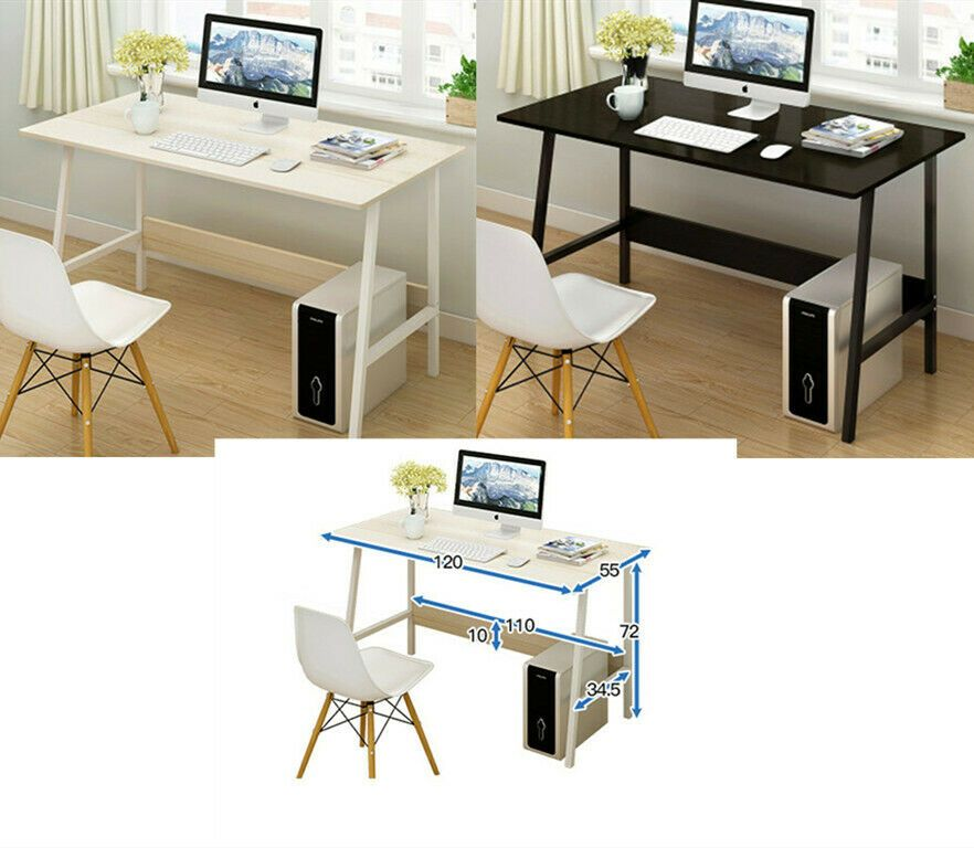 Simple PC Poste Style Table dOrdinateur Bureau Informatique XZPiOku