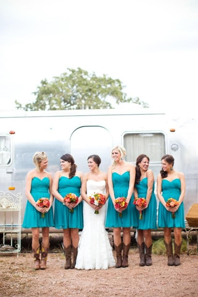 blue and cowboy boots ♥ turquoise | Turquoise Wedding | Pinterest