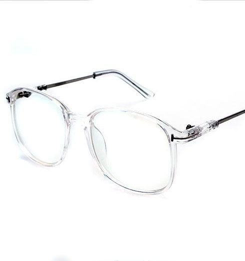 2015 brand big frame metal transparent computer eyeglasses plain ...